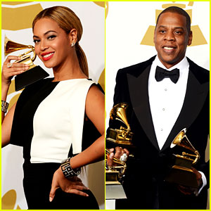 Beyonce & Jay-Z: Grammys 2013 Winners Room Photos!