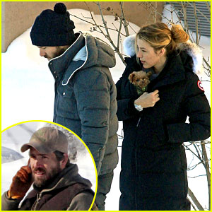Blake Lively &amp; Ryan Reynolds: Snowy Weekend in Canada!
