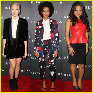 Brittany Snow & Solange Knowles: L.A's Music Industry Event