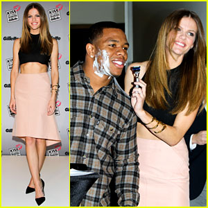 Brooklyn Decker Shaves Ray Rice at Kiss & Tell Event
