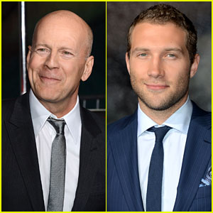 Bruce Willis: 'Die Hard' Mural Unveiling with Jai Courtney!