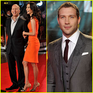 Bruce Willis & Jai Courtney: 'Die Hard' London Premiere!