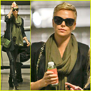 Charlize Theron: Juice Arrival at Equinox Gym!