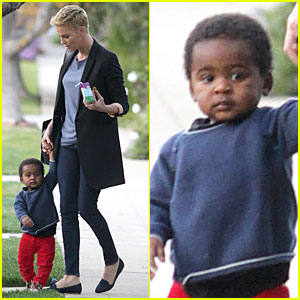 Charlize Theron: Playdate with Jackson!