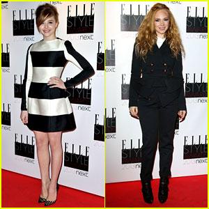 Chloe Moretz & Juno Temple - Elle Style Awards 2013