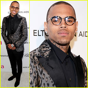 Chris Brown - Elton John Oscars Party 2013