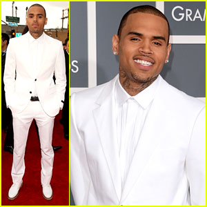 Chris Brown - Grammys 2013 Red Carpet