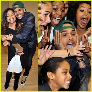 Chris Brown: Pre-Grammys Dance Academy Visit!