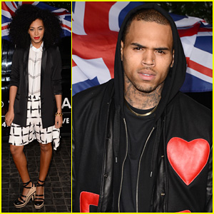Chris Brown & Solange Knowles: Topshop Topman LA Opening Party