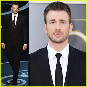 Chris Evans - Oscars 2013 Red Carpet