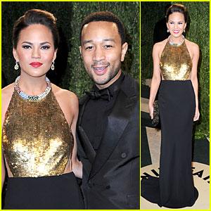 Chrissy Teigen & John Legend - Vanity Fair Oscars Party 2013
