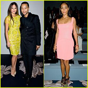 Chrissy Teigen & John Legend: Vera Wang Fashion Show!