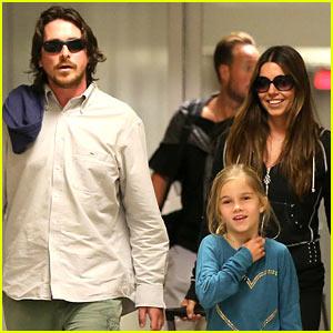 Christian Bale: Post-Birthday Family Flight!