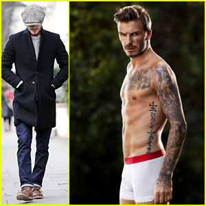 David Beckham: Shirtless & Underwear Clad H&M Campaign Pic!