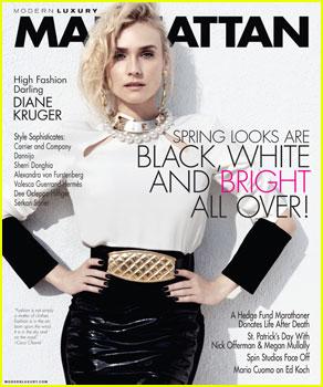 Diane Kruger Covers 'Manhattan' Magazine March 2013