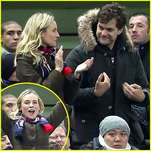 Joshua Jackson & Diane Kruger: Germany vs. France Game!