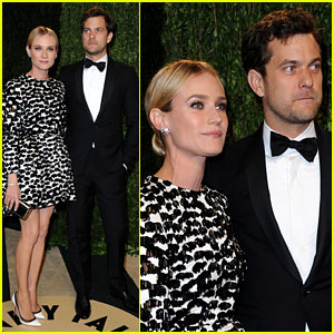 Diane Kruger & Joshua Jackson - Vanity Fair Oscars Party 2013