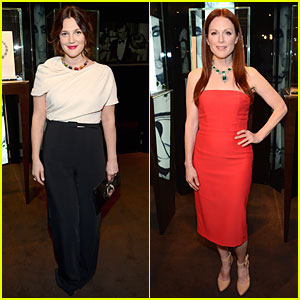Drew Barrymore & Julianne Moore: Elizabeth Taylor's Bvlgari Collection Event!