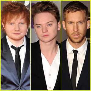 Ed Sheeran & Conor Maynard - BRIT Awards 2013 Red Carpet