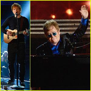 Ed Sheeran & Elton John: Grammys 2013 Performance - WATCH NOW!