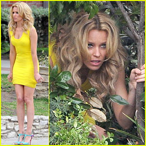 Elizabeth Banks: 'Super Fun Times' on 'Walk of Shame' Set!