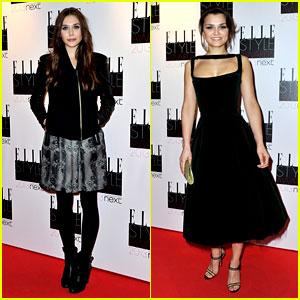 Elizabeth Olsen & Samantha Barks - Elle Style Awards 2013