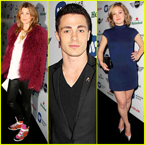 Ellen Pompeo & Julia Stiles: Warner Music Grammys Party!