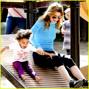 Ellen Pompeo: Sliding with Stella!