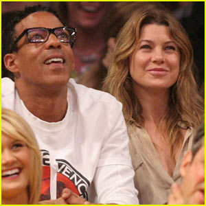 Ellen Pompeo: Valentine's Day Basketball with Hubby Chris Ivery!