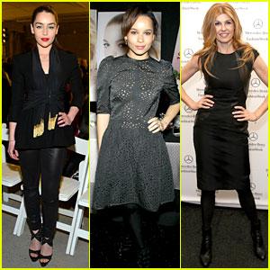 Emilia Clarke, Zoe Kravitz, & Connie Britton: Fashion Week Fun!