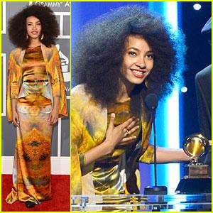 Esperanza Spalding - Grammys 2013 Red Carpet