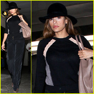 Eva Mendes Takes Flight After Ryan Gosling Casting Rumor