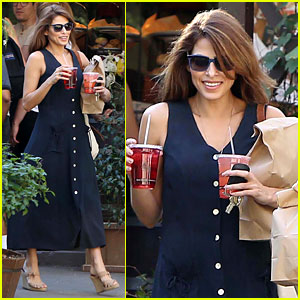 Eva Mendes: The Trails at Griffith Park Lunch!