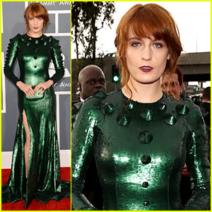 Florence Welch - Grammys 2013 Red Carpet