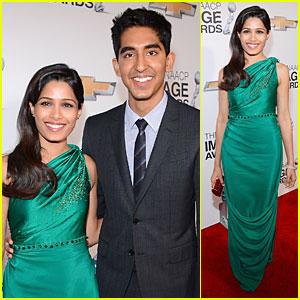 Freida Pinto & Dev Patel - NAACP Image Awards 2013 Red Carpet