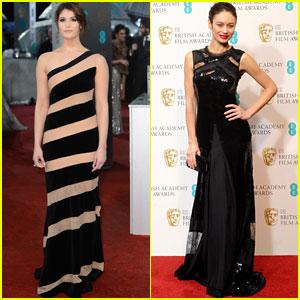 Gemma Arterton & Olga Kurylenko - BAFTAs 2013 Red Carpet