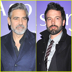 George Clooney & Ben Affleck: EE BAFTA Nominees Party!