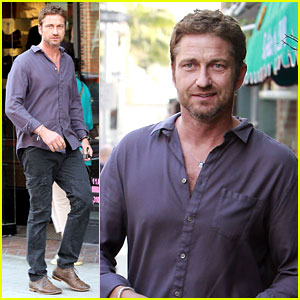 Gerard Butler: Medical Building Visit