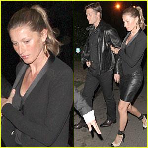 Gisele Bundchen & Tom Brady: Pre-Oscar Party in Brentwood!