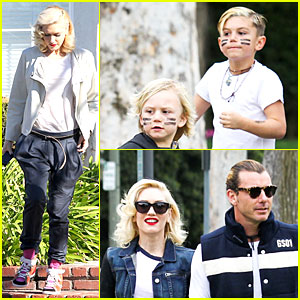 Gwen Stefani & Gavin Rossdale: Scootering with the Boys!