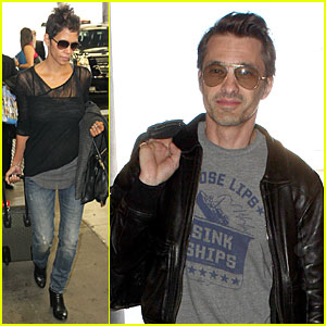Halle Berry & Olivier Martinez: Different Airport Arrivals!