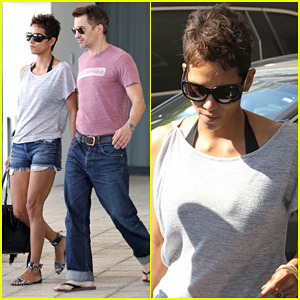 Halle Berry & Olivier Martinez: Super Bowl Sunday Outing!