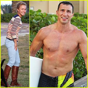 Hayden Panettiere: Miami Beach Day with Shirtless Wladimir Klitschko