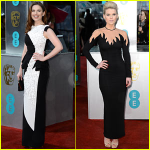 Hayley Atwell & Alice Eve - BAFTAs 2013 Red Carpet