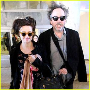 Helena Bonham Carter & Tim Burton Arrive for Oscars Week!
