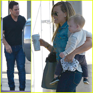 Hilary Duff & Mike Comrie: LAX Depature with Luca!