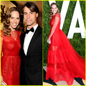 Hilary Swank & Laurent Fleury - Vanity Fair Oscars Party 2013