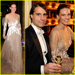 Hilary Swank &#038; Laurent Fleury: Vienna Opera Ball 2013!