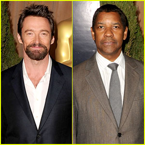 Hugh Jackman & Denzel Washington - Oscar Noms Luncheon