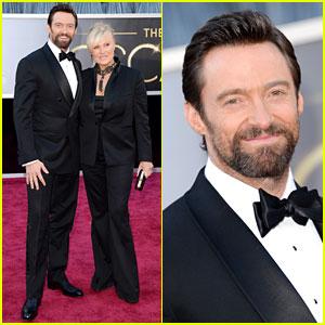Hugh Jackman - Oscars 2013 Red Carpet with Deborra-Lee Furness
